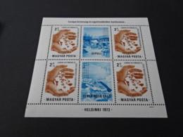 M10498 -Bloc MNH Hungary 1973 - - Europa - Helsinki - Diploi - Europäischer Gedanke