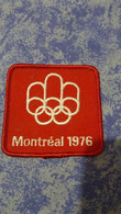 ECUSSON Tissu, Feutrine Brodee, MONTREAL 1976 JEUX OLYMPIQUES TBE - Patches