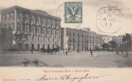TRAPANI-VIALE PRINCIPESSA ELENA E GRAND HOTEL-CARTOLINA  VIAGGIATA IL 18-8-1902 - Trapani