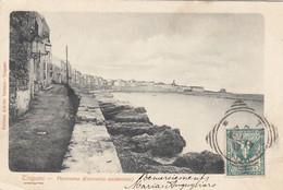 TRAPANI-PANORAMA-ESTREMITÀ OCCIDENTALE-CARTOLINA  VIAGGIATA IL 5-6-1902 - Trapani