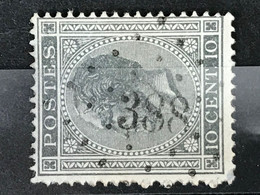 Leopold I Profiel OBP 17A - 10 Centimes - LP388 WANDRE - 1865-1866 Perfil Izquierdo
