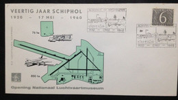 NETHERLANDS, Uncirculated FDC, « AVIATION », Schiphol, 1960 - FDC