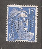Perforé/perfin/lochung France No 886 C.N.  Comptoir National D'Escompte (304) - Perforadas