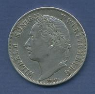 Württemberg Gulden 1841, Regierungsjubiläum Wilhelm, J 74, Ss + (m2734) - [ 1] …-1871 : Stati Tedeschi