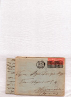 """Storia Postale-"""" BUSTA VIAGGIATA X ALESSANDRIA CON LETTERA ALL'INTERNO-28/11/1911- - Old Paper"""