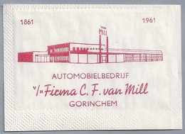 NL.- Puttershoek. Kristalsuiker. GORINCHEM. AUTOMOBIELBEDRIJF V/h FIRMA C.F. Van MILL. 1861 - 1961. - Zucker