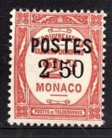 MONACO 1937 - Y.T. N° 153  - NEUF ** /1 - Unused Stamps