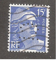 Perforé/perfin/lochung France No 886 CL (224) - Perforadas