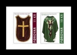 Faroe Islands 2019 Mih. 966/67 Church Textiles (I) (self-adhesive) MNH ** - Isole Faroer