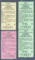 """Taxmarken  """"EBT - Emmental Bern Thun Bahn""""  (3 Versch.)           Ca. 1980 - Andere"""