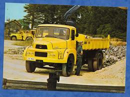 CPM Publicitaire Camoin Poids Lourd UNIC FIAT Modèle JNIC VERCORS P12 6 Caractéristique Au Verso Chantier Manutention - Transporter & LKW