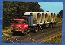 CPM Publicitaire Camoin Poids Lourd UNIC FIAT Modèle UNIC IZOARD 270 Tracteur Caractéristique Au Verso Construction - Transporter & LKW