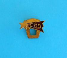 EC BASTIA (Espoir Club Bastiais) - France Football Club Old Enamel Buttonhole Pin Badge * Soccer Fussball Calcio Foot - Calcio