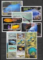 Malawi 2016 MiNr. 893 - 906 (Block 104-8) Fishes  M\sh + 5 S\sh  MNH** 40,00 € - Malawi (1964-...)