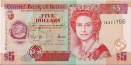 BANK Of BELIZE=2009    5  DOLLARS      P-67    UNC - Belize