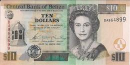 BANK Of BELIZE=2003    10  DOLLARS      P-68    UNC - Belize