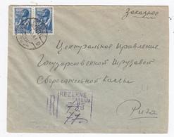 Russland R-Brief Mit MEF Nach Riga Zensur - 1923-1991 USSR
