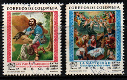 A768F - COLOMBIA- 1960 - USED - MI#: 951,952 (S/S) - CHRISTMAS - Kolumbien