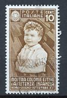 Italie - Italy - Italien 1937 Y&T N°386 - Michel N°560 (o) - 10c Colonies De Vacances - Used