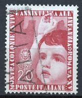 Italie - Italy - Italien 1937 Y&T N°387 - Michel N°561 (o) - 20c Colonies De Vacances - Used