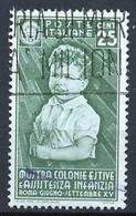 Italie - Italy - Italien 1937 Y&T N°388 - Michel N°562 (o) - 25c Colonies De Vacances - Used