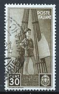 Italie - Italy - Italien 1937 Y&T N°389 - Michel N°563 (o) - 30c Colonies De Vacances - Used