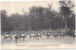 Dépt 77 - FONTAINEBLEAU - Carrousel Donné En L'honneur Du Roi D'Espagne - Les Écuyers De L'École De Saumur - Fontainebleau