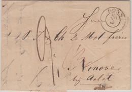 Preussen/Belgien - Bonn 26/3 K2 Portobrief N. Ninove 1845 - Mit Inhalt - Pruisen
