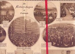 Orig. Knipsel Coupure Tijdschrift Magazine - Oostende - De Rotary Dagen - 1927 - Unclassified