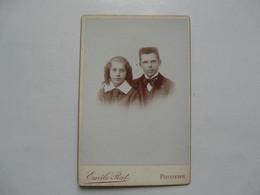 PHOTO ANCIENNE (10,5 X 16,5 Cm) : Portraits D' Enfants - Emile RAT - POITIERS - Oud (voor 1900)