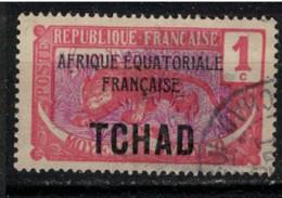 TCHAD          N°  YVERT  :   19  ( 4 )    OBLITERE       ( Ob   9/19  ) - Used Stamps