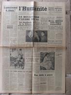 Journal L'Humanité (8 Janvier 1947) Gouvernement De Demain - Radici - Hopitaux Parisiens -Chevillards Villette - Periódicos