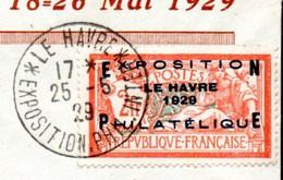 Mx Carton 27 Kgs Avec 4 Courriers Dont N° 257A, Vignettes Exposition Du Havre 1929 + Cachet ...Voir Commentaires !!! - Stamps