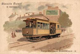 Chromo BISCUITS PERNOT - Tram Omnibus Electrique 15 - Pernot