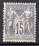 FRANCE ( TYPE SAGE ) : SPINK/MAURY 2019 , N°  77  N/U  TIMBRE  BIEN  OBLITERE , A  SAISIR . LOS - 1876-1898 Sage (Tipo II)