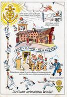 DC4071 - Postkarte Wesermünde Bremerhaven Bremen, Marineschule, Kriegsmarine, Flucht Vor'm Dritten Winkel - War 1939-45