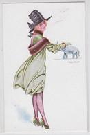 Maurice Pépin Illustrateur Porte-Bonheur Femme Et Eléphant Erotisme - Pepin
