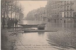 N°5549 R -cpa Paris Inondations 1910 -le Quai De Béthune à L'île St Louis- - La Crecida Del Sena De 1910
