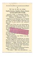 DD 277. DOROTHEA CHARPENTIER - °MOL 1887 / +SAINT-SERVAIS (NAMEN) 1949 - Andachtsbilder