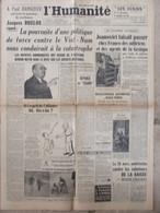 Journal L'Humanité (21 Mars 1947) Joanovici - Viet-Nam - Imprimerie Georges Lang - Normaliens - Periódicos