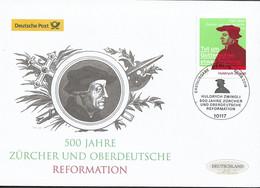 2019 Allem. Fed. Deutschland Germany Mi. 3464 FDC    500 Jahre Zürcher Und Oberdeutsche Reformation - FDC: Brieven