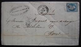 La Ferté-sous-Jouarre Pc 1496 1867 Dangreville Cherron J. Vallon, Carrières Meules De Moulins, Bel En Tête, Voir Photo - 1849-1876: Periodo Clásico