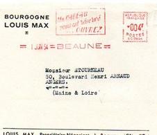 E 6 1954 Devant De Lettre Entete Vins De Bourgogne  à Beaune - 1921-1960: Modern Period