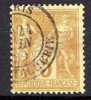 FRANCE ( TYPE SAGE ) : SPINK/MAURY 2019 , N°  86  N/U  TIMBRE  BIEN  OBLITERE , A  SAISIR . LOS - 1876-1898 Sage (Type II)