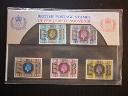 GREAT BRITAIN SG 1033-36 SILVER JUBILEE SOUVINER MINT SET Of 5 PRESENTATION PACK - Hojas & Múltiples