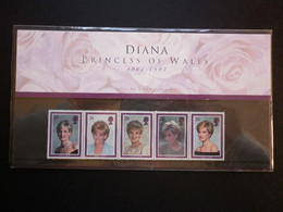 GREAT BRITAIN SG 2021-25 DIANA PRINCESS OF WALES COMMEMORATION PRESENTATION PACK - Feuilles, Planches  Et Multiples