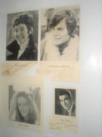 8 Autographe Dédicasse Signé Signature CELEBRITEES DU THEATRE  Abbadie , Arnel , Auber ... - Old Paper