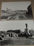 NORMANDIE  ORNE  GUERRE 39/45  TRUN  2 PHOTOS (retirage) - War, Military