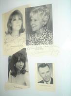 9 Autographe Dédicasse Signé Signature CELEBRITEES DU THEATRE Denise Grey , Patricia Karim ... - Old Paper