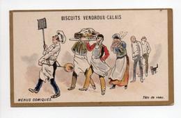 - CHROMO BISCUITS VENDROUX - CALAIS - MENUS COMIQUES : Tête De Veau - - Vendroux